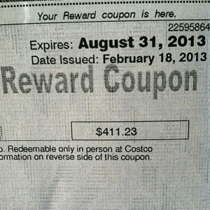 Costco American Express Reward Coupon