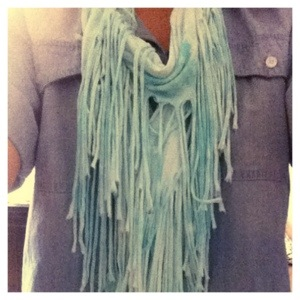 Fringe scarf from Target girls department, much cheaper than the women's accessories.