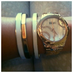 enamel bracelets rose gold watch