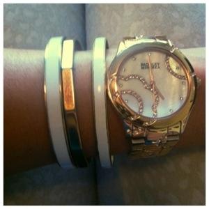 enamel bracelets rose gold watch