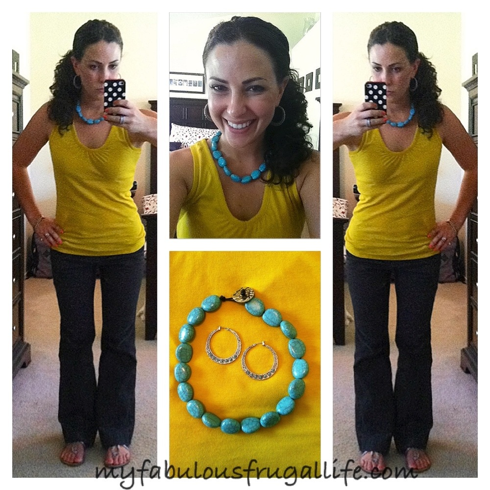 Ootd Mustard Turquoise Style Me Thrifted